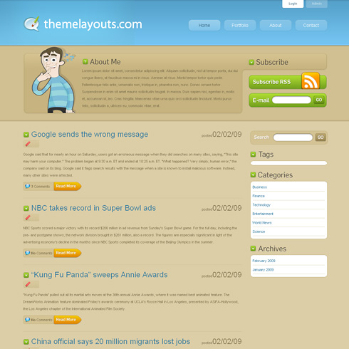 aBlogTheme WordPress Theme