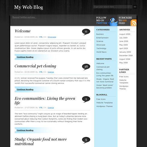 BlackSapphire WordPress Theme