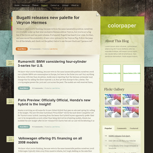 Color Paper Theme