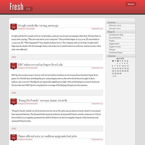 FreshBlog WordPress Theme