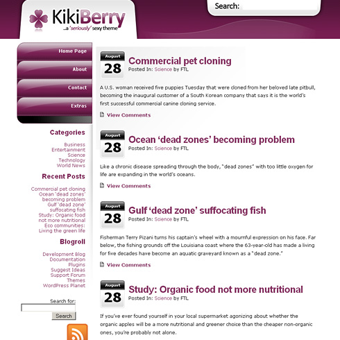 Kikiberry WordPress Theme