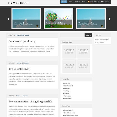 Magazineshack WordPress Theme