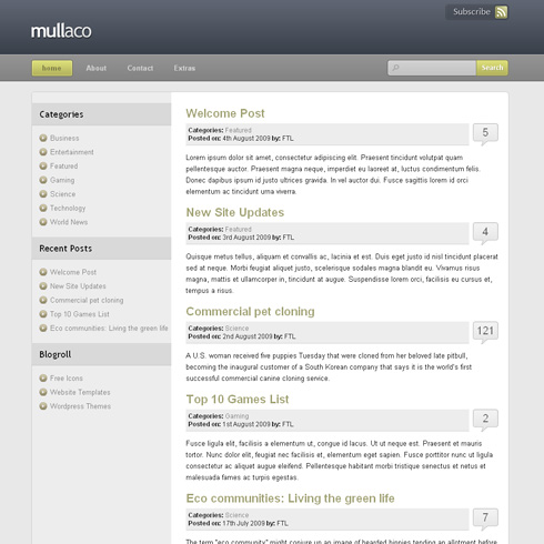 Mullaco WordPress Theme
