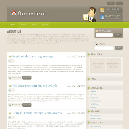 Organica WordPress Theme