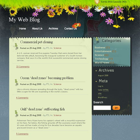 Seabreeze WordPress Theme