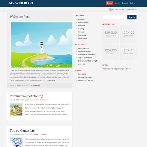 Sublime WordPress Theme